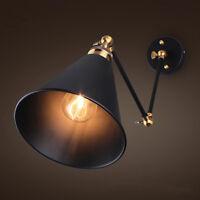 Vintage Industrial Swing Arm Wall Sconce Adjustable Retro Light Wall Lamp Bar