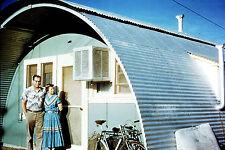 Color Photo 35mm Slide Vintage Arched Metal House Southwestern Dress Tucson 1956