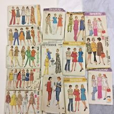 Lot of 14) 50's-70's Vintage Maternity Sewing Patterns Dresses,Coat,Skirts,Pants