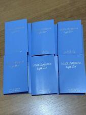 6 x Dolce Gabbana Light Blue Women Perfume Fragrance Samples - .05 Fl Oz x 6