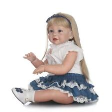 29'' Reborn Toddler Silicone Girl Blonde Hair Doll Wear Model Gift Bebe Doll