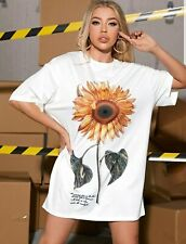 Sunflower Power Organic Cotton T-shirt Dress Sunflower Clothing