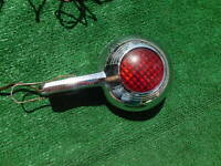 1940's 1950's unusual handheld spotlight with red lens on back police fire