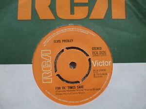 Elvis Presley - Raised On Rock / For Ol' Times Sake - RCA 2435 - UK 4 Prong 45