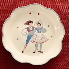 Vintage Cleminsons California Round Scalloped Dish Plaque