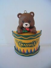 Christmas Crayola Drummer Boy Bear Crayons Christmas Ornament Binney Smith