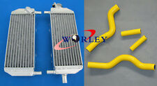 aluminum radiator and hose Suzuki RM250 RM 250 2001-2008 2002 2003 2004 YELLOW