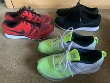 Nike Flyknit Trainer Size 9 LOT Black Red Volt