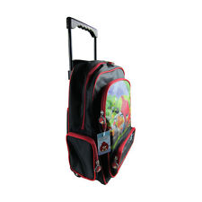 Brand New Angry Birds Black Travel School Rolling Bag Backpack Back Pack