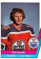 1977-78 O-Pee-Chee WHA #46 Ken Baird Edmonton Oilers ROOKIE Hockey Card