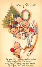 Merry Christmas Kewpies Rocking Horse Signed Rose O' Neil Postcard
