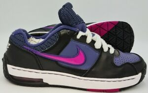 Nike Air Max Move Low Leather Trainers 454581-401 Purple/Black UK4/US4.5Y/EU36.5