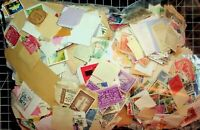 1 POUND* OF STAMPS ON/OFF PAPER. WORLDWIDE AND US. FAULTY TO FINE.