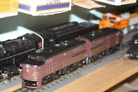 K-line O gauge PRR ABA Alcos #K2180-9611 NIB A units powered & B unit unpowered