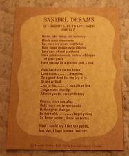 SANIBEL DREAM ISLAND FLORIDA POSTCARD POST CARD