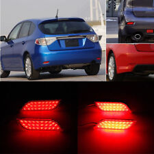 2x LED Rear Bumper Reflector Brake Drive Lights For Subaru Exiga Levorg WRX STI