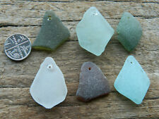 Drilled Sea Glass in Various Colours