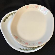 2 Corelle Serving Platters ~ Forever Yours and Crazy Daisy