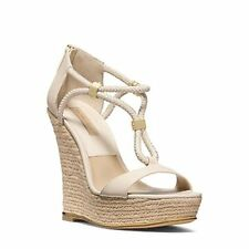 Michael Kors Sherie Braided Leather Espadrille Wedge in Vanilla (9 US), 46S4S...