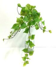 "Cottonwood Ivy Greenery Hanging Bush~Green,Burgundy Accent~20""~Silk/Artificial"