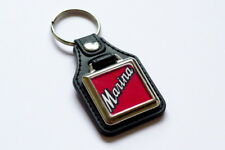 Morris Marina Badge Keyring - Leatherette & Chrome Classic British Car Keyfob