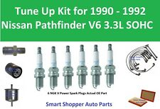 Spark Plug Wire Set, PCV, Filter To Tune Up for 1990 1991 1992 Nissan Pathfinder