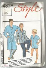 Style Sewing Pattern 4828 Child's Dressing Gown and Pyjamas Size 4-6 Uncut