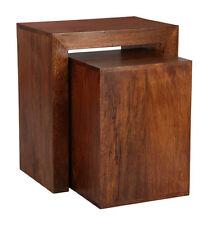 Living Room Furniture Dark Dakota Solid Mango Cube Nest (35n)