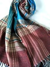 NEW Wool blend scarf. Warm, soft & dashing. Subtle colours -blue, green & brown