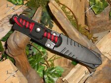 Harpoon/Spear tip/Knife/Bowie/Blade/Ful l tang/Survival/Combat/Hunt ing/P550 Red
