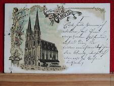 Farblitho -  Gruss aus Olmütz / Olomouc - gel 1897 nach Krems   m1