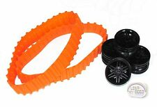 LEGO Technic - Tank Treads, Orange + Rims, Black - New - (NXT, EV3, Conveyor)