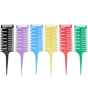 3-Ways Sectioning Highlight Comb Hair Dye Styling Barber Hairdressing Accessory