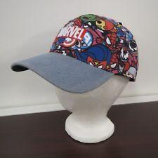 Marvel Comics Embroidered Adjustable Ballcap Hat NWT Hulk Ironman Spiderman