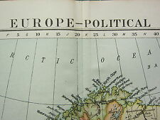 1919 LARGE MAP ~ EUROPE POLITICAL BRITISH ISLES FRANCE SPAIN GERMANY ITALY etc