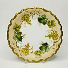 """Very Ornate Early 1900's Limoges Hand Painted 7 3/4"""" Grape Plate Antique France"""