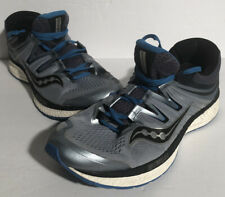 Saucony Hurricane ISO Men's Running Shoes Gray Blue S20411-2 Sz 12 Everun 1