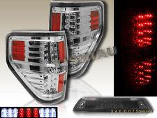 09-2014 Ford F150 XL XLT STX FX4 Pickup LED Tail Lights + 3rd Brake Light Smoke