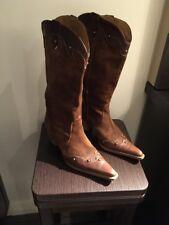 Ladies Wonders Brown Suede Boots Size 36