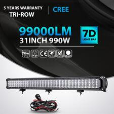 """Tri Row 990W 31inch LED Light Bar FLOOD SPOT Offroad 4WD Jeep Truck Boat 36"""" 30"""""""