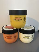 The Body Shop Body Yogurt Bundle Banana Rare Discontinued, Moringa And Mango