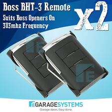 Boss BHT-3 Remote BHT3 303Mhz Suits Boss Openers On 303mhz Frequency x2