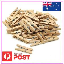 MINI WOODEN PEGS NATURAL CRAFT WEDDING CLOTHES PIN LINE PHOTO BABY