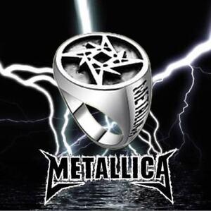 Metallica Music Band Punk Rock Motorcycle Rider Biker Style Ring Size 7-13