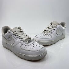 Nike Air Force 1 '07 Low Mens Sz 10.5 White Basketball Athletic Shoes 315122-111