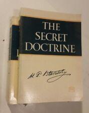 the Secret Doctrine H.P. Blavatsky 2 Book Set softcover 1 & 2 I II cosmogenesis!