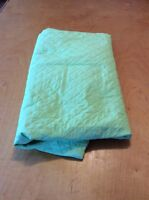 Set Of Pink/Green Quilt, Duvet Cover, Dust Ruffle, And Pillow Case