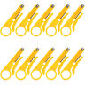 10pcs Mini Wire Stripper Knife Crimper Plier Crimping Cable Punch Stripping Tool
