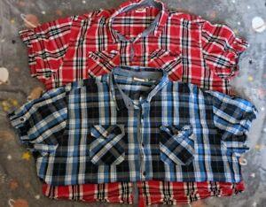 Set of 2 Men's Lee Cooper Shirts 3XL Sleeve Summer Shirts VGC