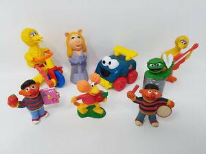 Mixed LOT of 8 Vintage 80s Sesame Street Muppets PVC Figures Big Bird Ernie more